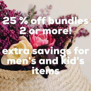 25% off bundles of 2 or more